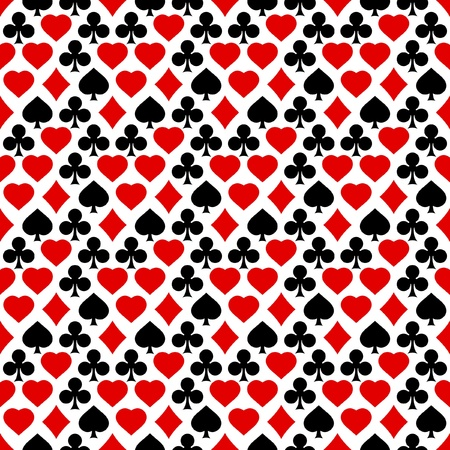 jack of clubs: Seamless background with card suits.