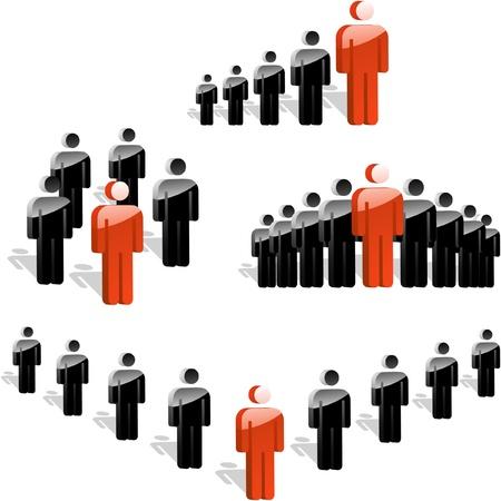 corporate hierarchy: CAPO. Concetto di business. Illustrazione vettoriale. Vettoriali