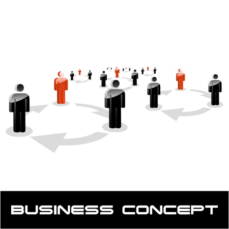computer networking: COMMUNICATION. Business concept. Vector illustration. Illustration