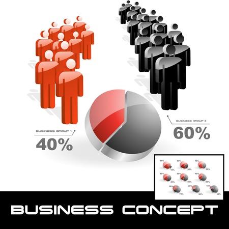hablar en publico: Concepto de negocio. Ilustraci�n vectorial.