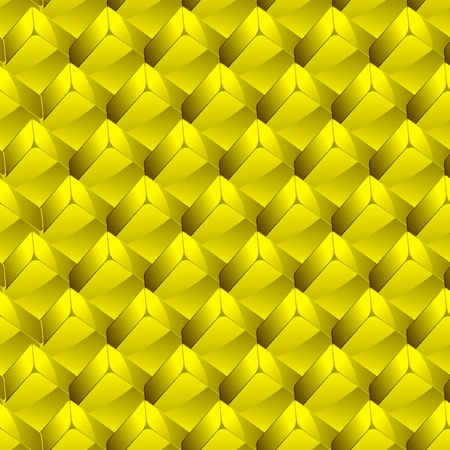 Seamless background with golden blocks.   Vector