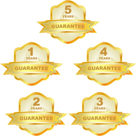 Vector guarantee labels. Golden set. Vector