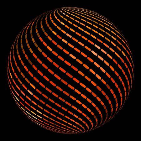 globe grid: Globe. Vector illustration.
