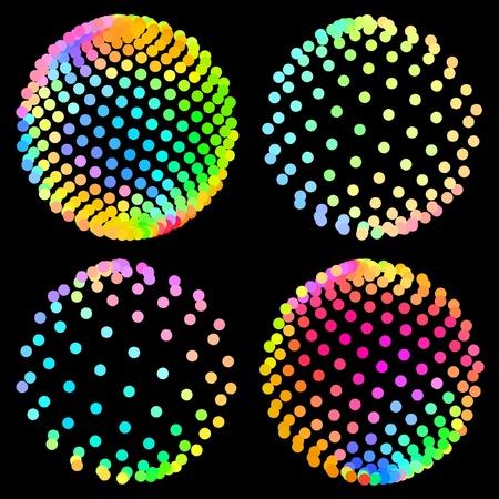 Multicolored globe illustration. Stock Vector - 8947658