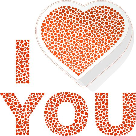 I love you. Love message. Stock Vector - 8947801