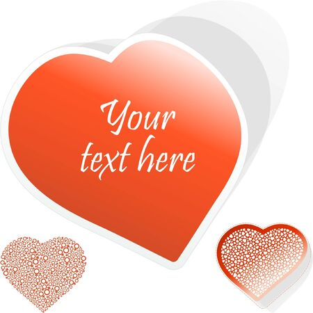 Love message. Vector illustration.    Vector