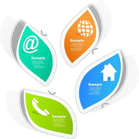 address bar: Contact element set for design.   Illustration