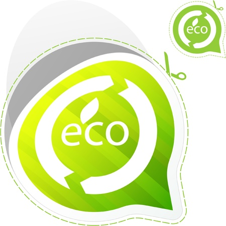 ECO sticker. Vector