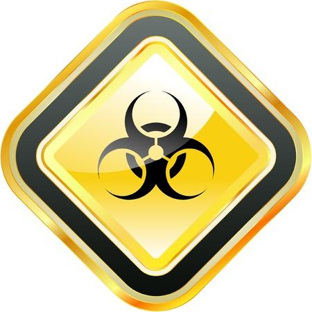 hazardous work: Biohazard sign. Vector illustration.