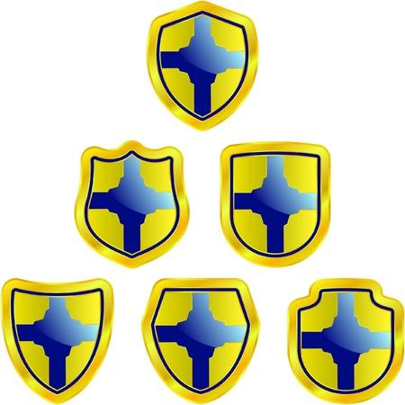 Vector set of heraldic symbols Stock Vector - 8947607