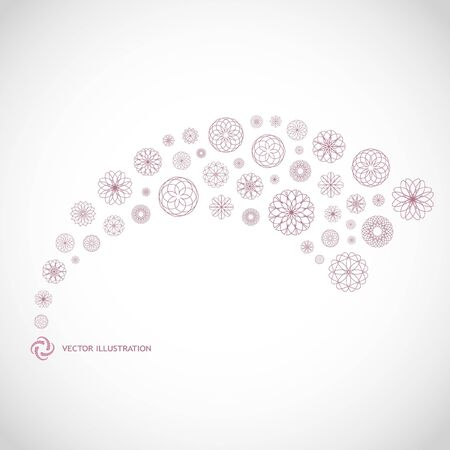 Vector abstract background. Floral illustration.   Vector