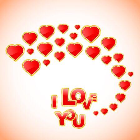 Love message. Vector illustration. Stock Vector - 8947705