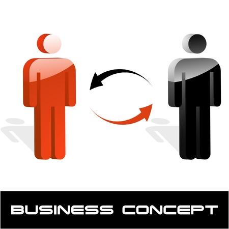 Business Kommunikationskonzept. Vektor-Illustration.   Vektorgrafik