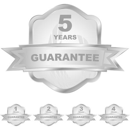 guaranree: Vector guarantee label set.   Illustration