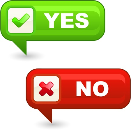 Approved and rejected button.