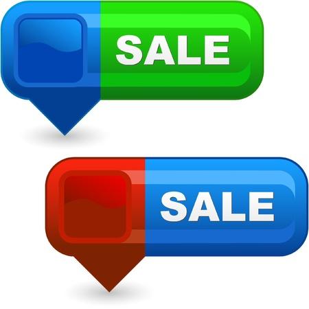 bargaining: SALE. Button set.