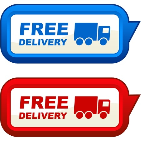 Free delivery elements for sale Stock Vector - 8946447
