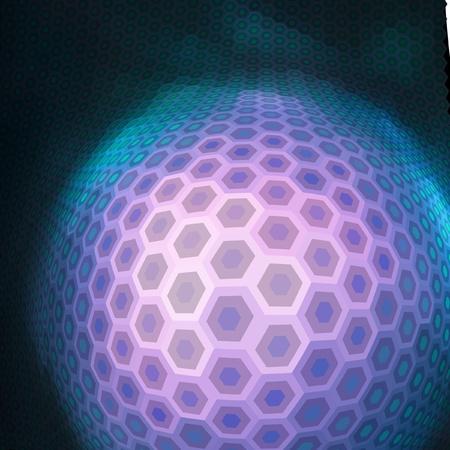 original idea: Abstract hexagon mosaic.