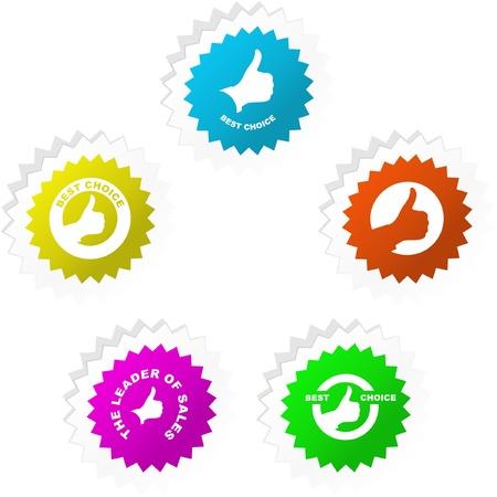 certified stamp: Vector guarantee sticker set.