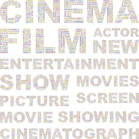 cinematograph: CINE. Ilustraci�n con t�rminos de asociaci�n diferente.    Vectores
