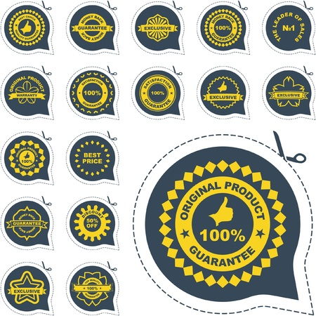 Vector guarantee label set.   Stock Vector - 8947825