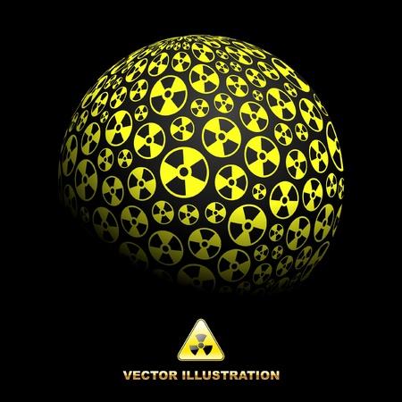 Radioaktive Globus.