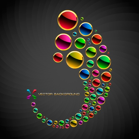 artistic logo: Colorful abstract background.