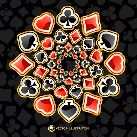 jack of clubs: gambling composition. Abstract background.