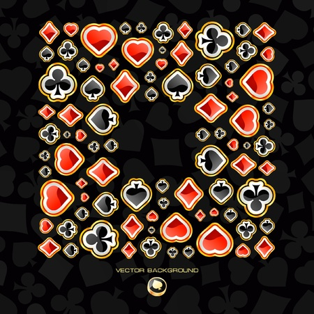 heart suite: Vector frame of card symbolic.
