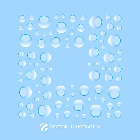 Vector frame. Blue abstract light background.  Vector