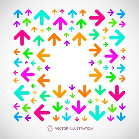 Arrows. Abstract frame. Vector