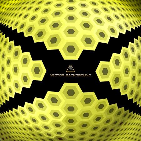 Abstract hexagon mosaic. Stock Vector - 9036996