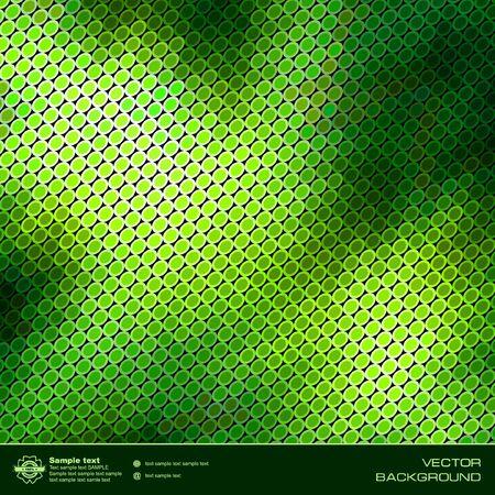 Green abstract vector background. Vector