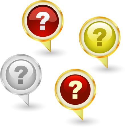 Question vector elements. Stock Vector - 9036992