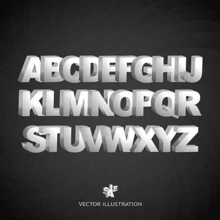 alphabetical letters: Vector 3d alfabeto