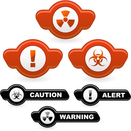 biohazard symbol: Warning signs.