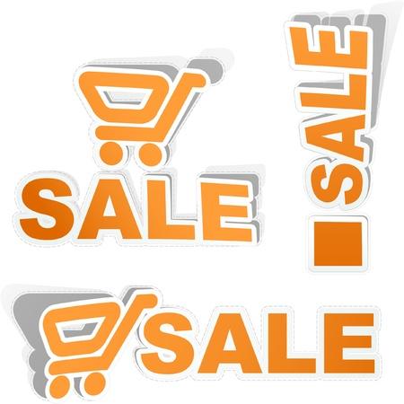 auction off: Shopping cart.  Illustration
