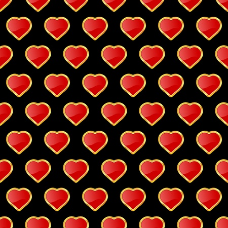 Seamless background with heart.    Vector