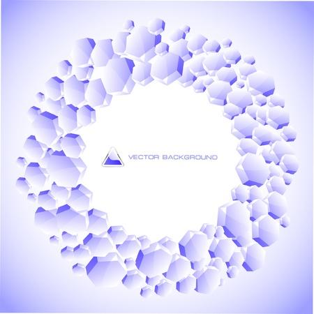 Abstract hexagon background.   Vector