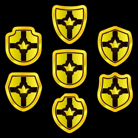 Shields. Vector