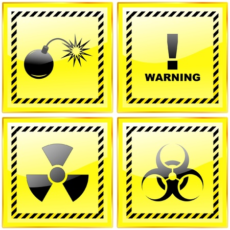 Warning signs. Vector