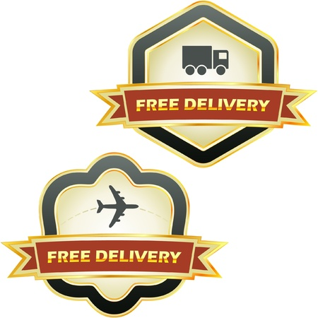 Free delivery element set for sale Stock Vector - 9119666