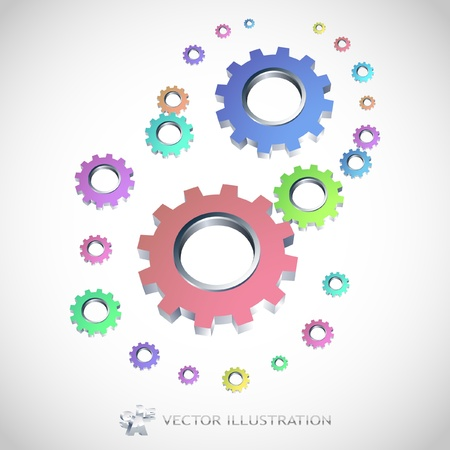 Vector gear background. Abstract illustration. Stock Vector - 9036869