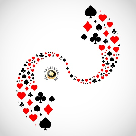 Vector composición de juegos de azar. Fondo abstracto.