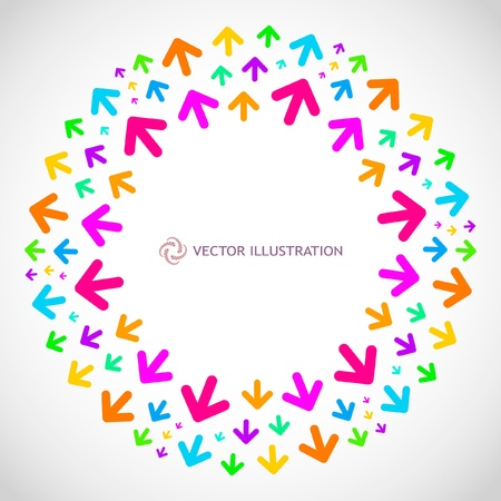 Abstract frame with arrow mix.   Vector