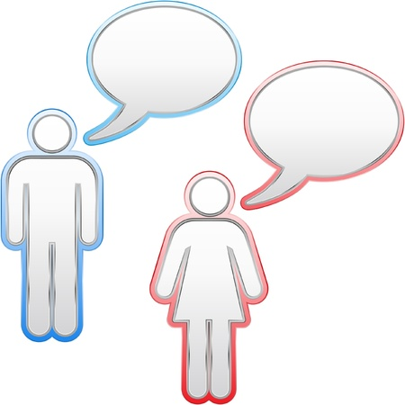 feedback link: Speech bubbles. Vector set.