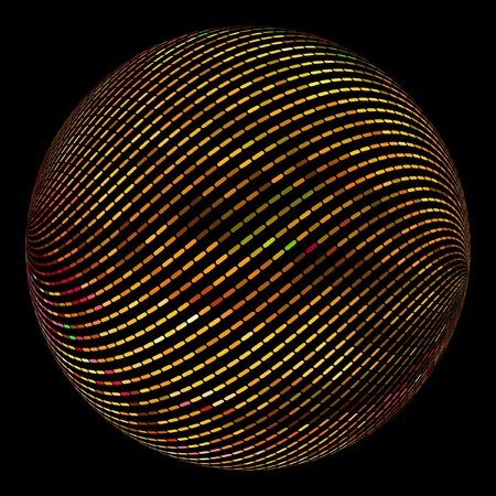 spotted line: Globe. Vector illustration.
