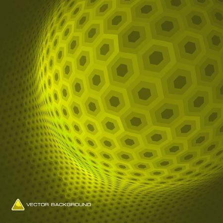 Abstract hexagon mosaic. Stock Vector - 9023982