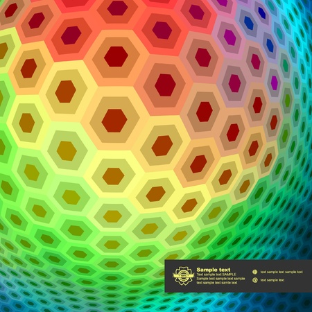 Abstract hexagon mosaic.   Stock Vector - 9023975