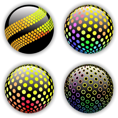 Globes. Vector illustration. Stock Vector - 9023945